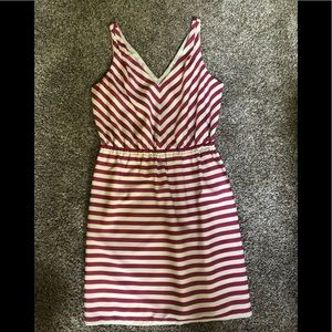Loft dress v neck striped
